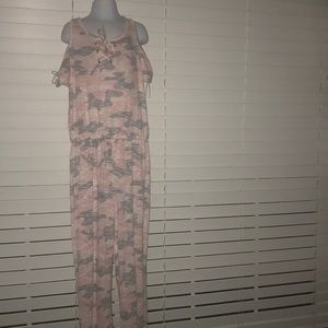 Girl Justice pink/camo jumpsuit size 12